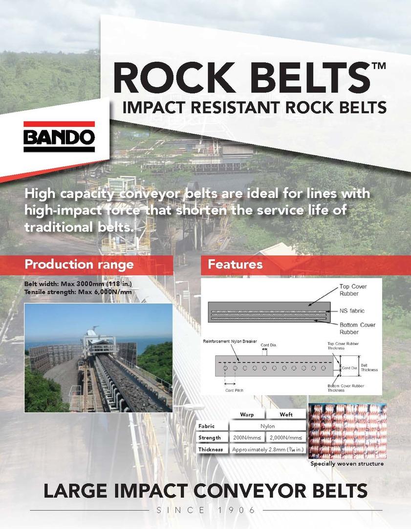 Bando Rock Belts flier - Latin America