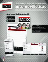 Bando Automotive Application Guide App flier - Spanish