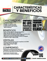 Bando Features and Benefits flier - Spanish