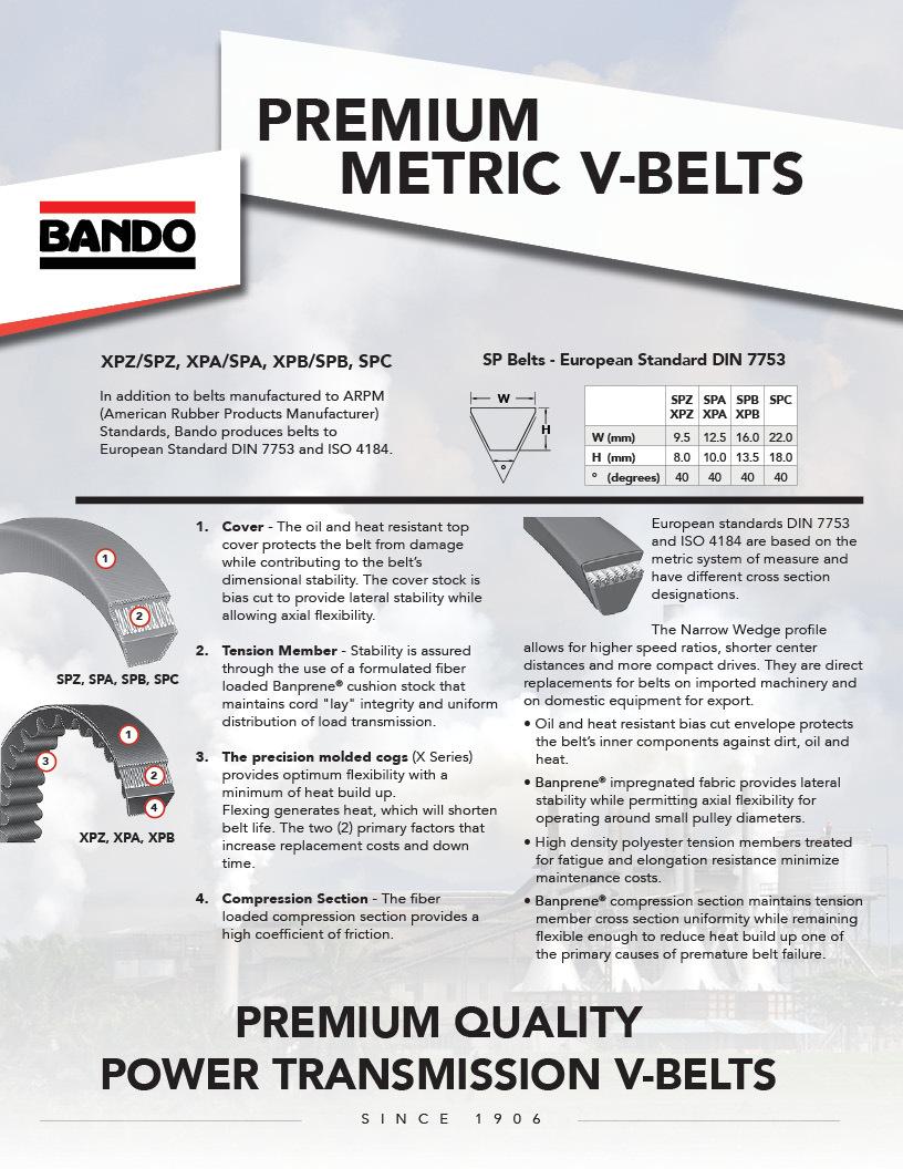 Premium Metric V-belts flier