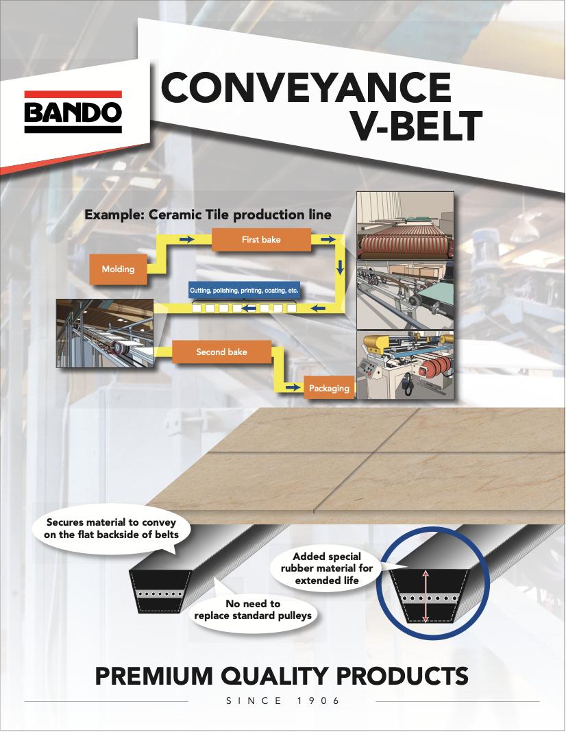 Conveyance V-belt flier