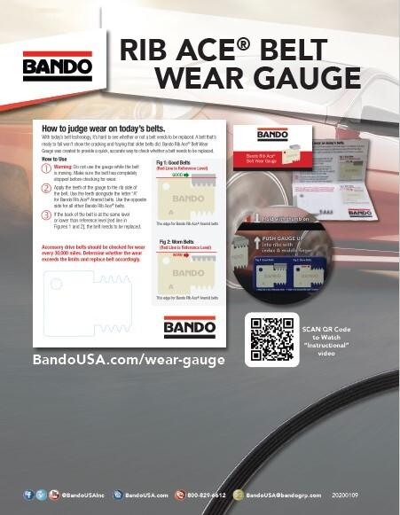Bando Rib Ace Belt Wear Gauge flier